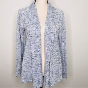 LOFT Light Blue Open Front Cardigan  Size 14